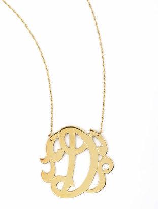 Jennifer Zeuner Jewelry Swirly Initial Necklace, D