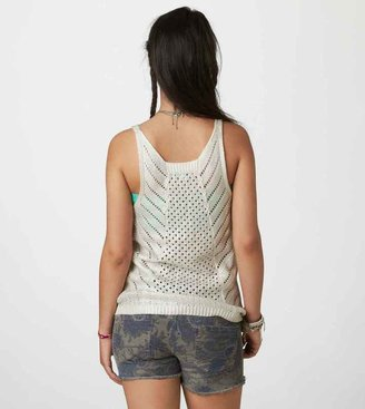 American Eagle AE Shine Open Stitch Tank