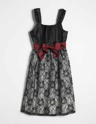Hype Tweens 7-16 Lace Taffeta Dress