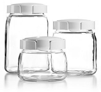 Martha Stewart Collection Glass Canisters, Set of 3