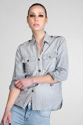 Current/Elliott Ticking Stripe Perfect Shirt