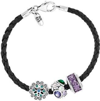 Prerogatives Sterling Flowers Bead Bracelet Set