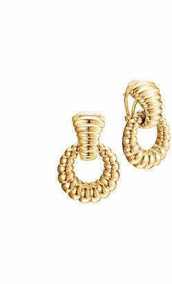 John Hardy Bedeg 18k Gold Door-Knocker Earrings