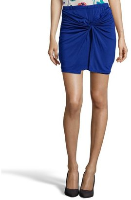 Wyatt cobalt stretch knot front skirt
