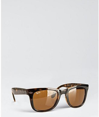 Ray-Ban brown plastic 'Folding Wayfarer' sunglasses