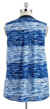 Vince Camuto Ocean Striped Tunic Top