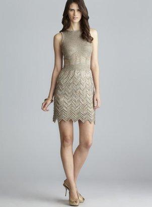 M Missoni Sleeveless Lurex Chevron Knit Dress