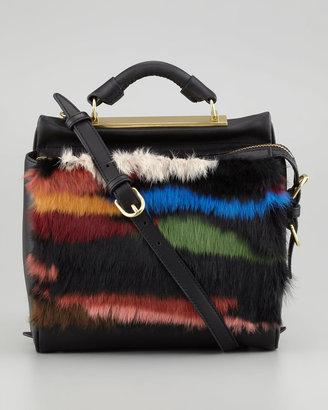 3.1 Phillip Lim Ryder Small Fur Crossbody Satchel, Multicolor