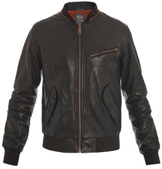 McQ by Alexander McQueen Leather baseball jacket