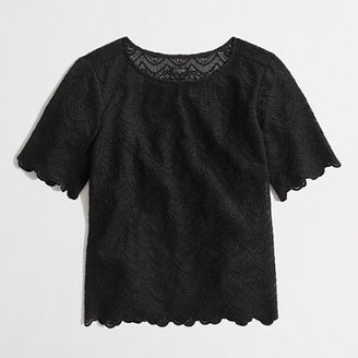 J.Crew Factory Factory scalloped lace top
