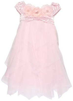 Biscotti Ode To Love Puff Sleeve Dress (Toddler) (Pink) - Apparel