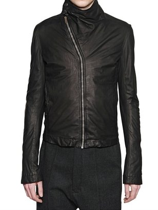 Rick Owens Velo Calfskin Mountain Leather Jacket