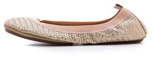 Yosi Samra Samara Braided Metallic Ballet Flats