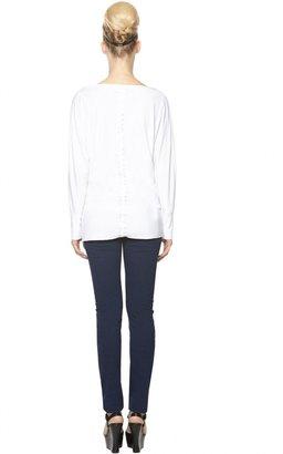 Alice + Olivia Boatneck Slouchy Long Sleeve Shirt