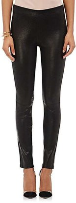 J Brand Women's Leather Pull-On Leggings-BLACK $948 thestylecure.com