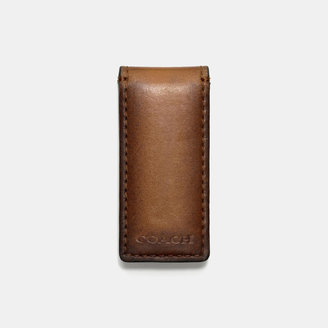 Coach Bleecker Legacy Money Clip In Leather