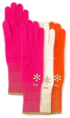 Juicy Couture Angora Gloves with Lurex