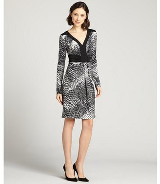 BCBGMAXAZRIA black combo 'Paulette' long sleeve dress