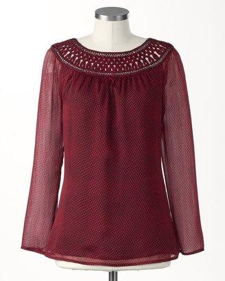 Coldwater Creek Celebration blouse