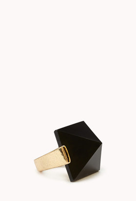 Forever 21 Pyramid Faux Jade Ring