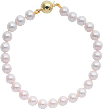 A B Davis Cultured Pearls Knotted 7.5 Bracelet with Gold Clasp