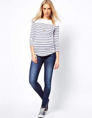 Asos Exclusive Top in Cotton Breton Stripe With 3/4 Sleeve