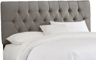 Skyline Furniture Tufted Headboard in Linen Grey