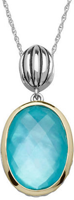 Lord & Taylor Sterling Silver, 14Kt. Yellow Gold & Quartz Doublet Pendant Necklace