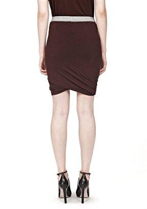 Alexander Wang Micro Modal Spandex Twist Skirt