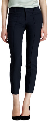 Helmut Lang Piped Stretch Cropped Pants