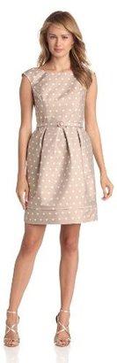 Eliza J Women's Cap Sleeve Dot Dress