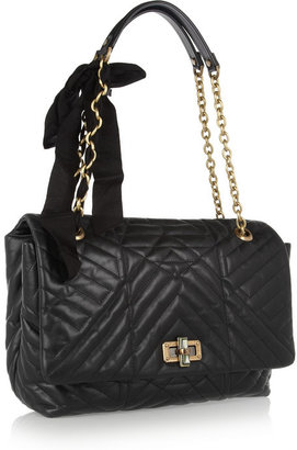 Lanvin The Happy large quilted-leather shoulder bag