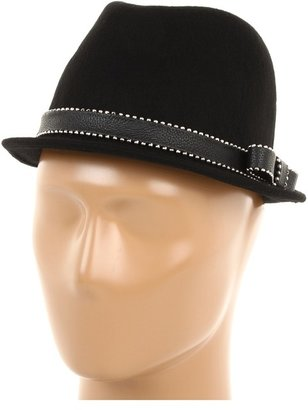 Juicy Couture Short Fedora w/ Stud Bow Detail (Black) - Hats