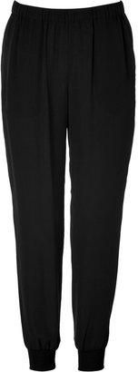 Theory Silk Arai Pants in Black