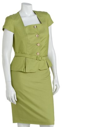 Larry Levine Signature by pleated suit jacket and skirt set