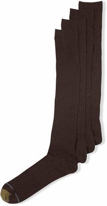 Gold Toe Men Socks, Adc Canterbury 3 Pairs Crew Dress Socks + 1 Pair
