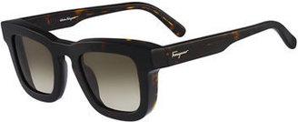 Salvatore Ferragamo Runway Plastic Sunglasses $346 thestylecure.com