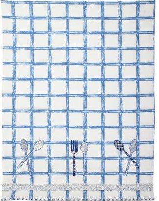 Sur La Table Checkered Flatware Vintage-Inspired Kitchen Towel