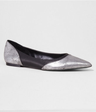 Express Two Tone Pointed Toe Flat