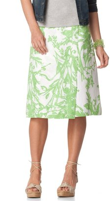 Coldwater Creek Abstract print wrap skirt