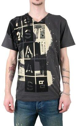 William Rast Washed Number Jersey V-Neck T-Shirt