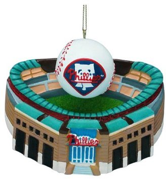 """Kurt Adler Philadelphia Phillies Citizens Bank Park w/ Baseball Ornament 3-3/4"""""""
