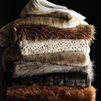 Faux Fur Throw, Snow Leopard