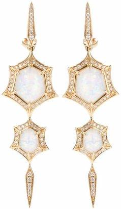 Stephen Webster 'Crystal Haze' quartz and diamond drop earrings