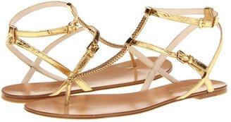 KORS Jedda (Gold Metallic Snake) - Footwear