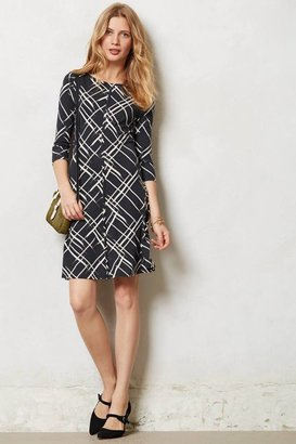 Anthropologie Etched Plaid Dress