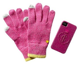 Juicy Couture Texting Glove & Gelli Case iPhone 4 4/S Set