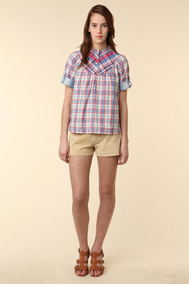 APC Madras Pieced Plaid Top