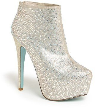 Betsey Johnson Blue by 'Bride' Bootie