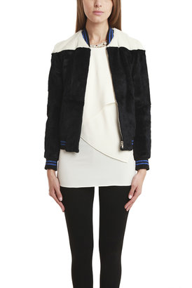 3.1 Phillip Lim Fur Bomber Jacket